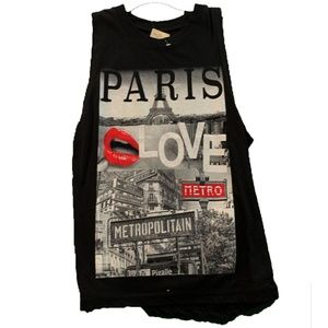 Paris Love Muscle Tee